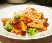 lentil sausage garlic pasta