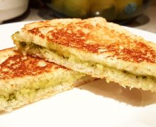 creamy-cilantro-grilled-cheese