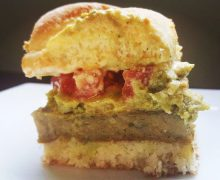 easy vegan falafel slider