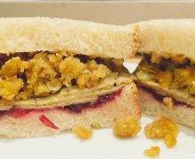 vegan holiday sandwich