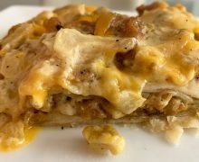 vegan green chile chicken casserole