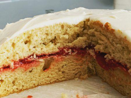vegan cherry vanilla cake